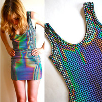 Disco Ball Dress  Halloween Costume by HereandThereVintage on Etsy