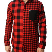 Young & Reckless Men's Buffalo Squared Flannel Shirt