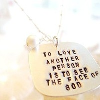 The Whole Truth  Long Necklace by onelifejewelry on Etsy