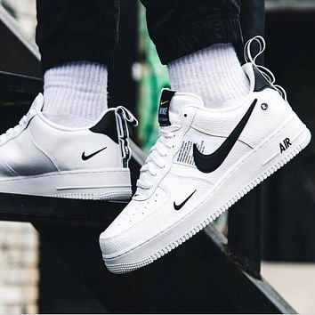 NIKE AIR FORCE 1 07 LOW Trending Women Men Stylish Running Sports Shoes Sneakers White
