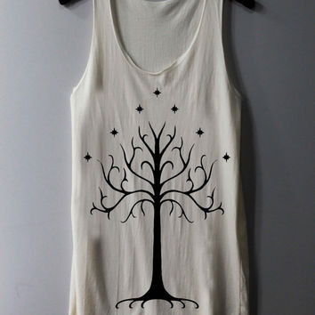 White Tree of Gondor Shirt The Lord of The Rings Shirts The Rise of Mordor Tank Top Tunic TShirt T Shirt Singlet - Size S M L