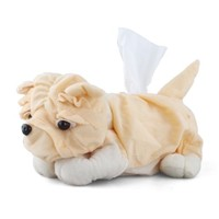 Cute Dog Tissue Paper Box Case Cover Holder Home Decoration Yellow