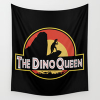 The Dino Queen Wall Tapestry by Page394