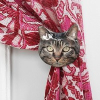 Plum & Bow Cat Curtain Tie-Back - Urban Outfitters