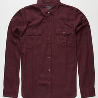 Valor Mount Mens Flannel Shirt Burgundy  In Sizes