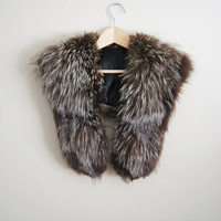 The Silver Fox - Vintage 60s Fox Fur Shawl Winter Wedding Jacket Scarf