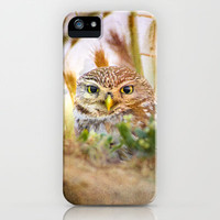 Owl eyes. Sunset in the eyes iPhone & iPod Case by Guido Montañés