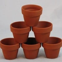 """10 - 2.75"""" x 2.75 Clay Pots - Great for Plants and Crafts"""