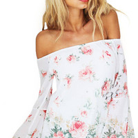 Off Shoulder Blouse With Bell Sleeves not available
