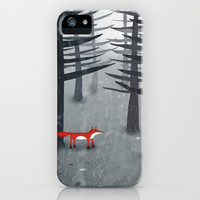 The Fox and the Forest iPhone Case by Squirrell | Society6