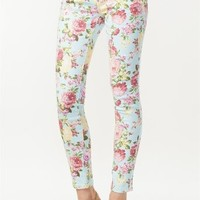 A'GACI Baked Bouquet Floral Skinny Jean - BOTTOMS