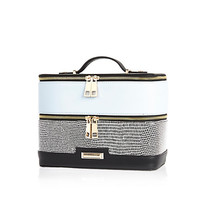 River Island Womens Black and blue vanity case