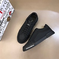 DG  Men Fashion Boots fashionable Casual leather Breathable Sneakers Running Shoes0408sx