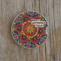 Make  A  Difference  Car  Coaster  From  Natural  Life