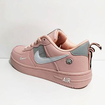 NIKE Air Force 1 Fashionable Women Men Casual Sports Running Shoes Sneakers Pink