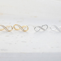 Cubic Infinity Earrings  Gold // E008GD // Gold by CreaMellow