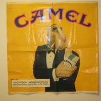 Vintage Early 90's Camel Tobacco Cigarette Advertisement Banner - Wall Hanging Banner