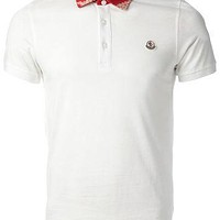 Moncler Contrast Collar Polo Shirt