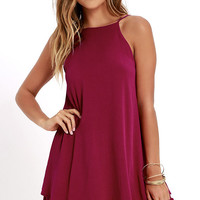 Sights and Sounds Berry Pink Swing Dress