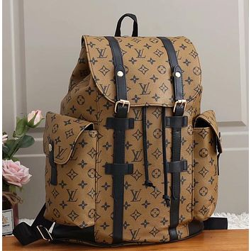 Louis Vuitton New Retro Backpack Clip-on Large Capacity Mountaineering Bag Fashion Outdoor Bag