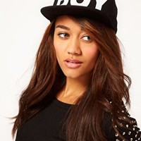 Boy London Boy Snapback Black Cap at asos.com