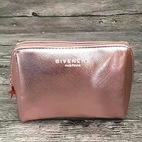 Givenchy Fashion New Cosmetic Bag Women Storage Bag Handbag Rose Gold
