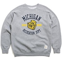 University of Michigan Recreation Department Crewneck Sweatshirt Heather Grey