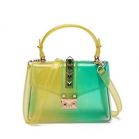 Women Color Transparent Fashion Jelly Bag