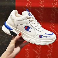 Champion Trending Women Breathable Sport Running Shoes Sneakers White&Blue