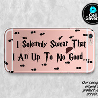 Harry Potter Quote Clear iPhone 6s iPhone 6 iPhone 6 Plus iPhone 6s Plus iPhone 5c iPhone 5 SE iPhone 7 Plus Marauders Map I Solemnly Swear