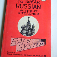 Vintage Learn To Speak Russian Without a Teacher Book
