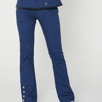 The Bootcut Pant in Estate Navy Blue - Medical Scrubs by Jaanuu