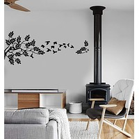 Vinyl Wall Decal Branches Birds Tree Leaves Span Decor Mural Stickers Unique Gift (ig027)
