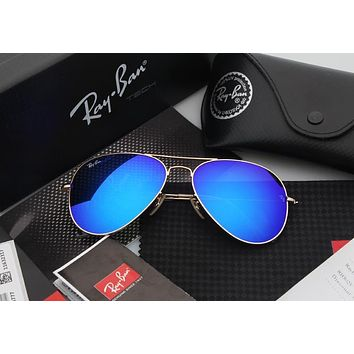 Aviator Matte Gold Blue Mirrored RB 3025 112/17
