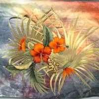 Brilliant Orange Hawaiin Flowers by textilewonder on Zibbet