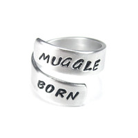 Muggle Born - Harry Potter Quote Ring- Aluminum Twist Ring