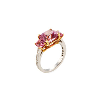Paolo Costagli Women's Pink Spinel & Diamond Ring - Pink - Size 6.25