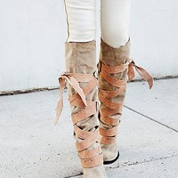 Free People Womens Paradiso Wrap Boot