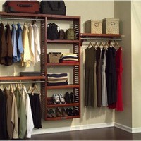 John Louis Home Premier Closet System Red Mahogany