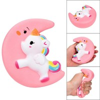 MUQGEW Squishy Cute Moon Unicorn Scented Cream Slow Rising Squeeze Decompression Toys Anti-stress Children's toys Gift Toys 2018