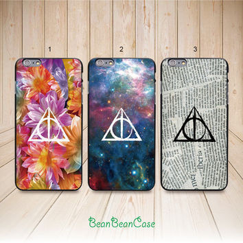 Deathly Hallows Harry Potter case for iPhone 6 iPhone 4/4s/5/5s/5c, Samsung S5/Note4, Sony, LG Nexus, Nokia Lumia, HTC One M7/M8, Moto E(L15)