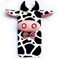 Handmade 3D Cow Animal Iphone 6 Plus Cases Custom Cover