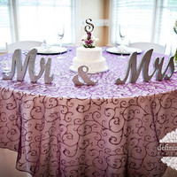 Mr & Mrs sign / Silver Glitter wedding decor
