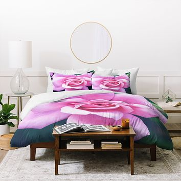 Allyson Johnson Darling Pink Rose Duvet Cover