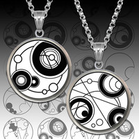 Gallifreyan symbols Dr Who images for Bottle Caps, Pendants, Scrapbooking, Buttons, Rings Printable Digital Collage Sheet