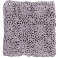 Lavender Fleur Crochet Knit Throw Blanket
