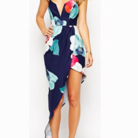 FASHION STRAPS FLORAL DRESS