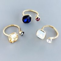 Bastille Crystal Rings - 3 Colors