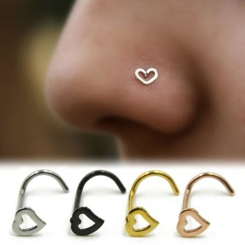 Heart Stainless Steel Nose Ring