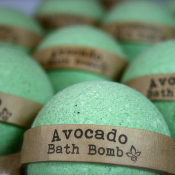 Avocado Bath Bomb, Aromatherapy Bath Bomb, 1 All Natural Bath Bomb Fizzy